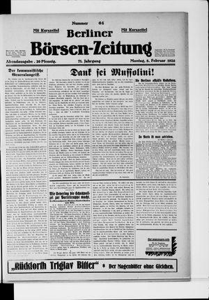 Berliner Börsen-Zeitung vom 08.02.1926