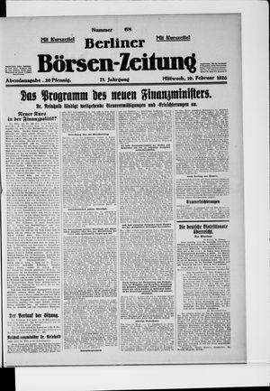 Berliner Börsen-Zeitung vom 10.02.1926
