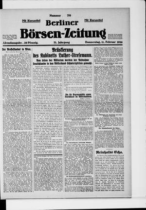 Berliner Börsen-Zeitung vom 11.02.1926