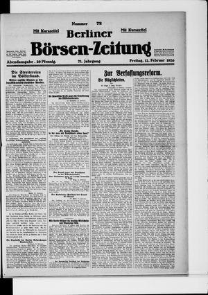 Berliner Börsen-Zeitung vom 12.02.1926