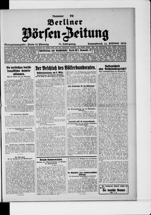 Berliner Börsen-Zeitung vom 13.02.1926