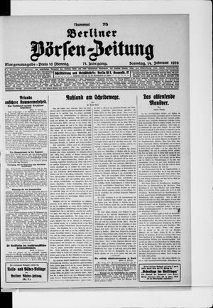 Berliner Börsen-Zeitung vom 14.02.1926