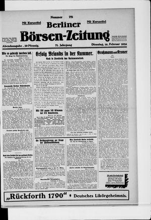 Berliner Börsen-Zeitung vom 16.02.1926