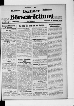 Berliner Börsen-Zeitung vom 17.02.1926