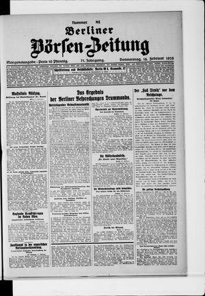Berliner Börsen-Zeitung vom 18.02.1926