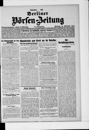 Berliner Börsen-Zeitung vom 19.02.1926