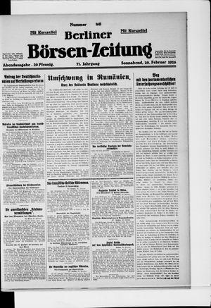 Berliner Börsen-Zeitung vom 20.02.1926