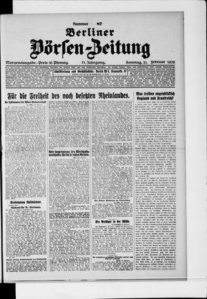 Berliner Börsen-Zeitung vom 21.02.1926