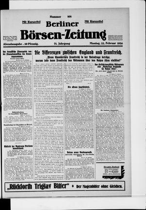 Berliner Börsen-Zeitung vom 22.02.1926