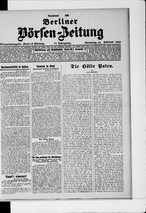 Berliner Börsen-Zeitung vom 23.02.1926
