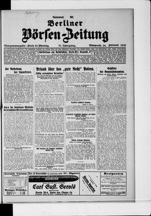 Berliner Börsen-Zeitung vom 24.02.1926