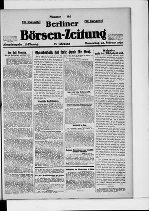 Berliner Börsen-Zeitung vom 25.02.1926