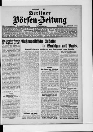 Berliner Börsen-Zeitung vom 26.02.1926