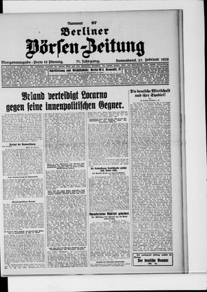 Berliner Börsen-Zeitung on Feb 27, 1926