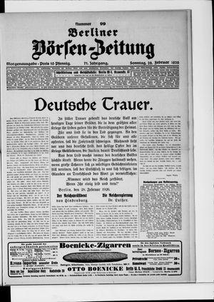 Berliner Börsen-Zeitung vom 28.02.1926
