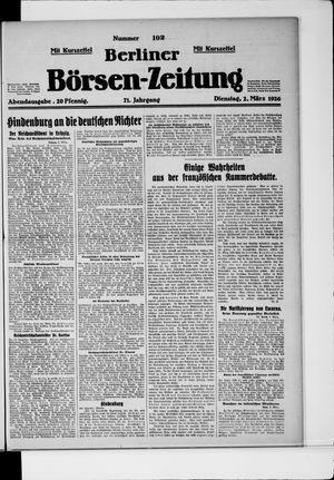 Berliner Börsen-Zeitung vom 02.03.1926