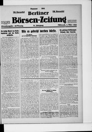 Berliner Börsen-Zeitung vom 03.03.1926