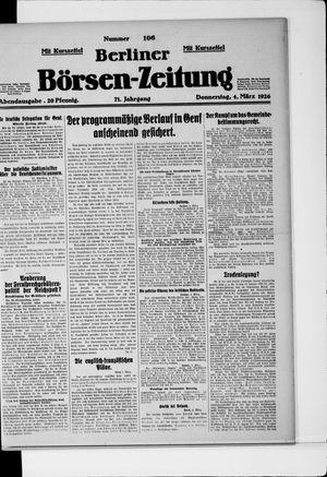 Berliner Börsen-Zeitung vom 04.03.1926