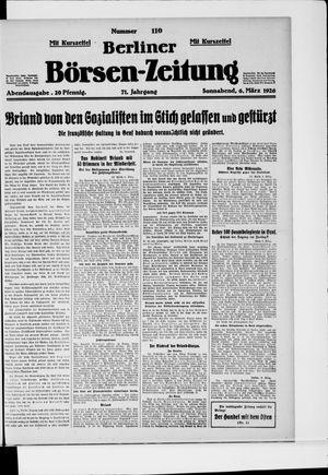 Berliner Börsen-Zeitung vom 06.03.1926