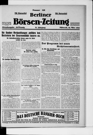 Berliner Börsen-Zeitung vom 10.03.1926