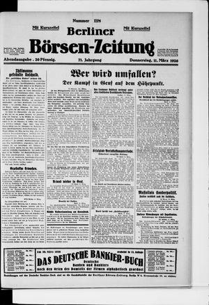 Berliner Börsen-Zeitung on Mar 11, 1926