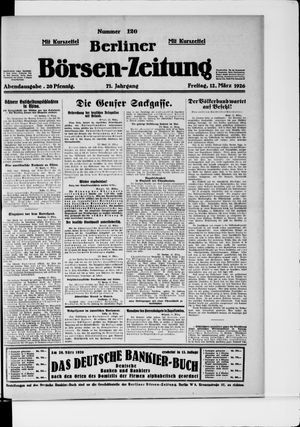 Berliner Börsen-Zeitung vom 12.03.1926