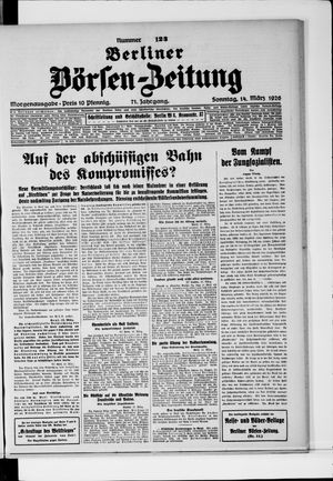 Berliner Börsen-Zeitung vom 14.03.1926