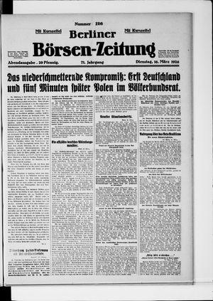 Berliner Börsen-Zeitung vom 16.03.1926