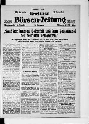 Berliner Börsen-Zeitung vom 17.03.1926