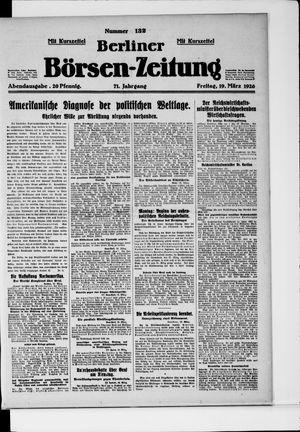 Berliner Börsen-Zeitung vom 19.03.1926