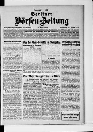 Berliner Börsen-Zeitung vom 21.03.1926