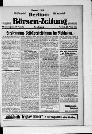 Berliner Börsen-Zeitung vom 22.03.1926