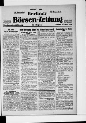 Berliner Börsen-Zeitung vom 26.03.1926