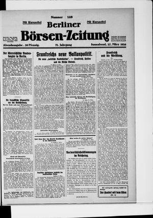 Berliner Börsen-Zeitung vom 27.03.1926