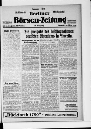 Berliner Börsen-Zeitung vom 30.03.1926