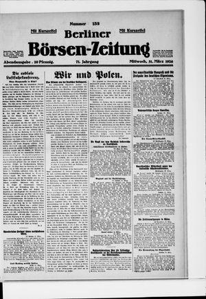 Berliner Börsen-Zeitung vom 31.03.1926