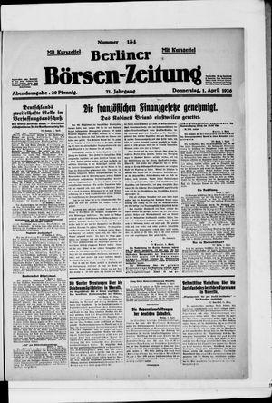 Berliner Börsen-Zeitung vom 01.04.1926
