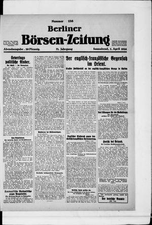 Berliner Börsen-Zeitung vom 03.04.1926