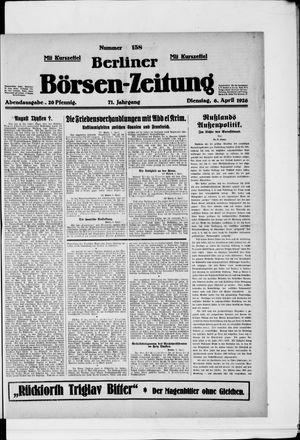 Berliner Börsen-Zeitung vom 06.04.1926