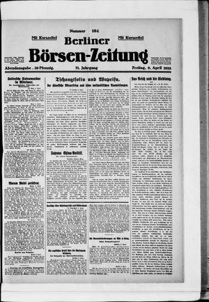 Berliner Börsen-Zeitung vom 09.04.1926