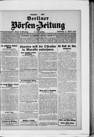 Berliner Börsen-Zeitung vom 11.04.1926