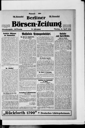 Berliner Börsen-Zeitung vom 12.04.1926