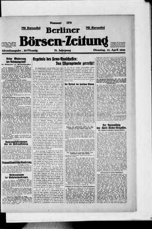 Berliner Börsen-Zeitung vom 13.04.1926