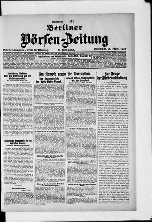 Berliner Börsen-Zeitung vom 14.04.1926