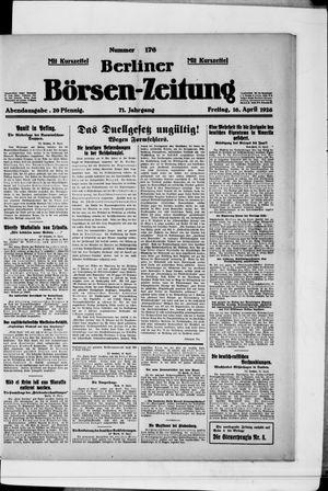 Berliner Börsen-Zeitung vom 16.04.1926