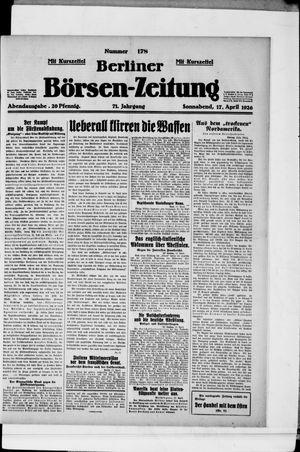 Berliner Börsen-Zeitung vom 17.04.1926