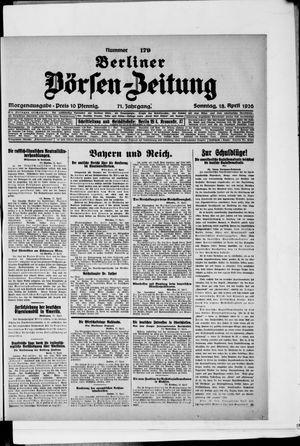 Berliner Börsen-Zeitung vom 18.04.1926