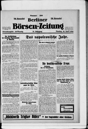 Berliner Börsen-Zeitung vom 19.04.1926