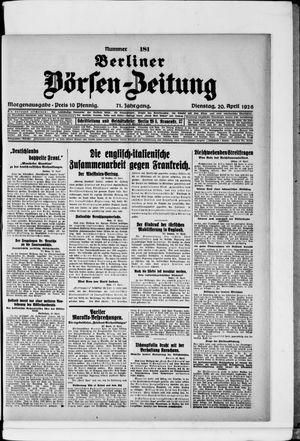 Berliner Börsen-Zeitung vom 20.04.1926