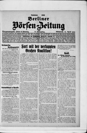 Berliner Börsen-Zeitung vom 21.04.1926